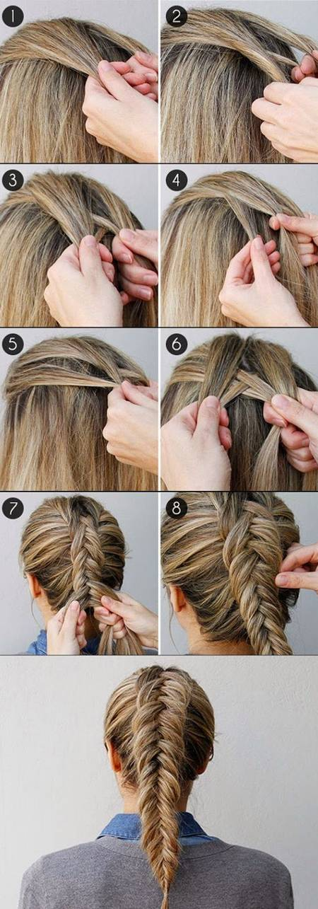 French Fishtail Hairstyles for Girls